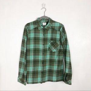 RVCA plaid flannel button down shirt